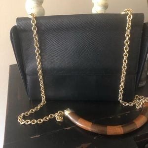 Vintage Fendi Black leather shoulder bag